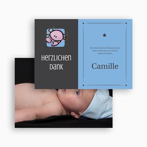 Dankeskarten Geburt Mädchen - Sternzeichen Krebs 20490 test