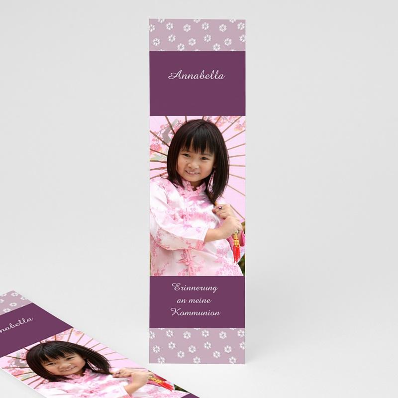 Personalisierte Lesezeichen Lilien