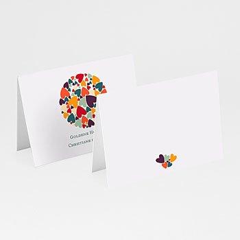 Tischkarten Geburtstag - Liebesherzen - 1
