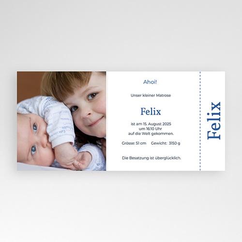 Geburtskarten für Jungen Kleiner Seemann pas cher