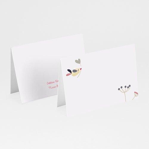 Tischkarten Geburtstag - Vogelhochzeit 20551