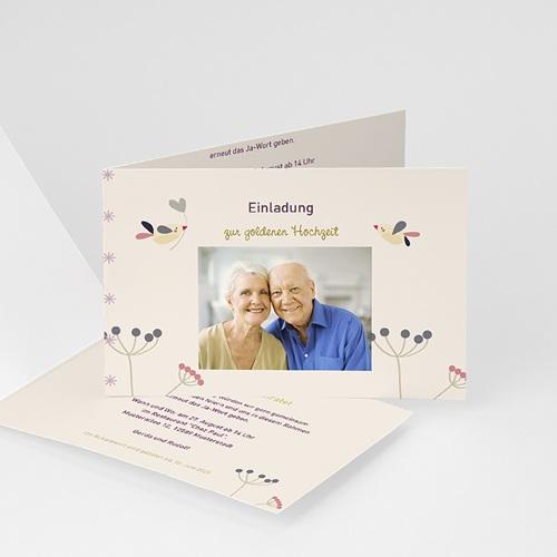Silberhochzeit und goldene Hochzeit  - Vogelhochzeit 20557