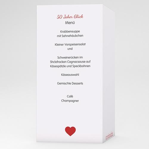 Menükarten Geburtstag 50 Jahre Liebe