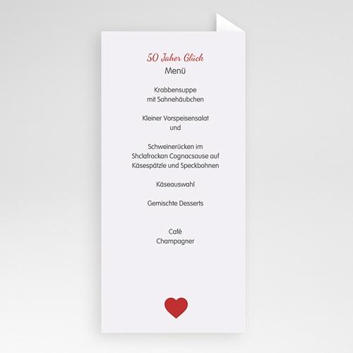 Menükarten Geburtstag 50 Jahre Liebe pas cher