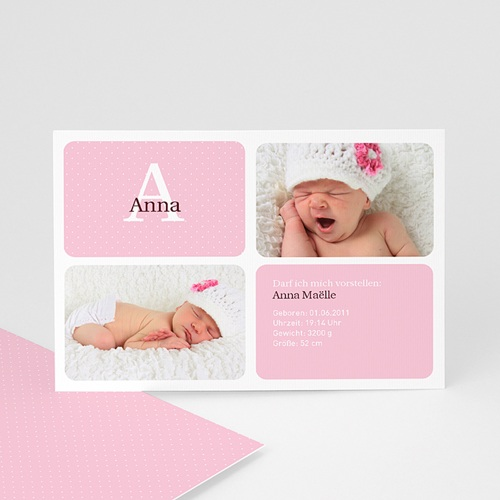Geburtskarten für Mädchen - Julia 2070