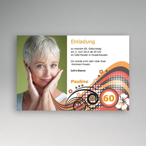 Erwachsener Einladungskarten Geburtstag So Sixties