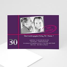 Runde Geburtstage - Einladungskarte Geburtstag - 1