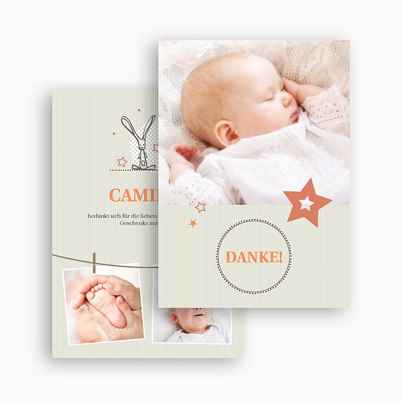 Dankeskarten Taufe Jungen - Sanft 20780 thumb