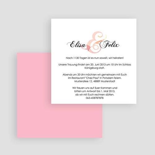 Einladungskarten Hochzeit  - Blumenhochzeit 20812 test