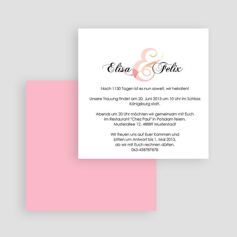 Einladungskarten Hochzeit  - Blumenhochzeit 20812 thumb