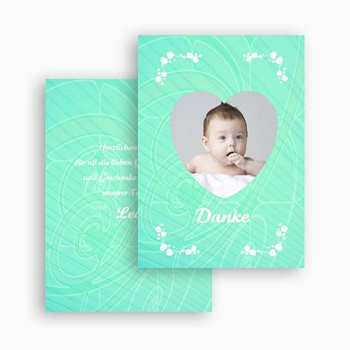 Dankeskarten Geburt Mädchen - Herzchenrahmen 20838 preview