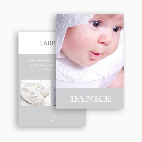 Dankeskarten Taufe Jungen - Typographie 20845 test
