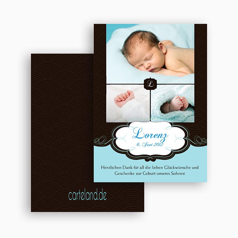 Dankeskarten Geburt Jungen - Sven 20929 thumb
