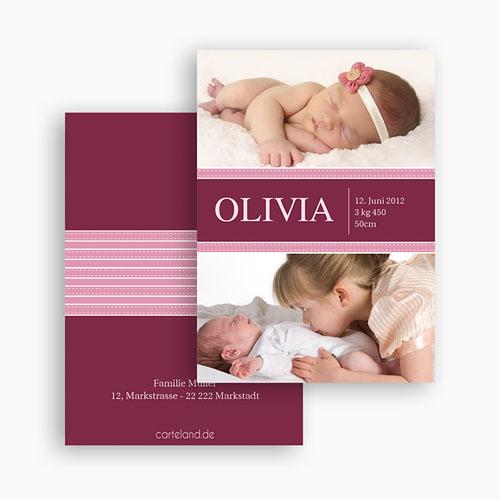 Dankeskarten Geburt Mädchen - Olivia 20930 preview