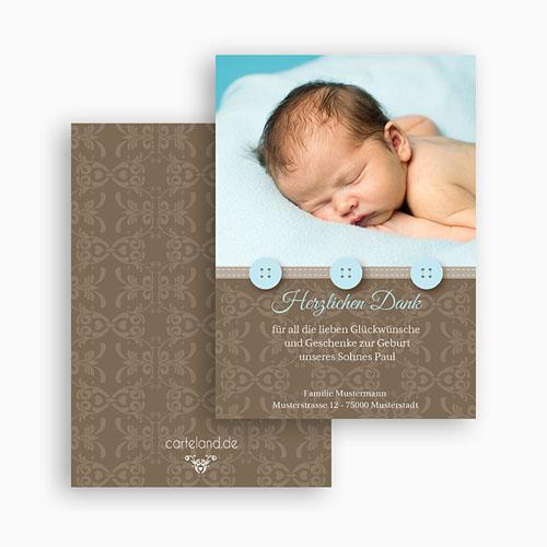 Dankeskarten Geburt Jungen - Thomas 20946 test