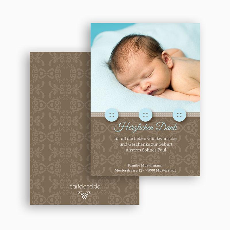 Dankeskarten Geburt Jungen - Thomas 20946 thumb