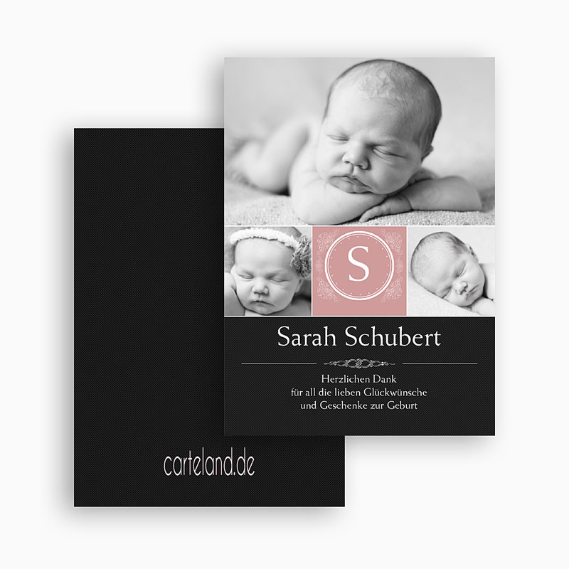 Dankeskarten Geburt Mädchen - Johanna 20948 thumb