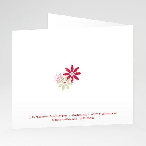 Einladungskarten Hochzeit  - Vintage Floral 20963 test