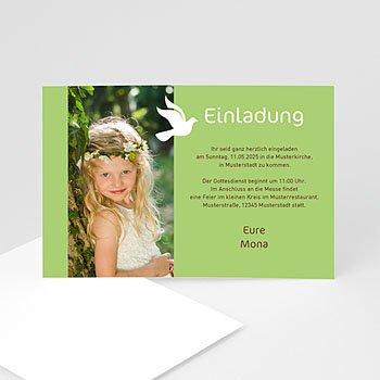 Einladungskarten Kommunion Mädchen Weisse Taube