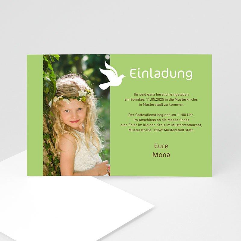 Einladungskarten Kommunion fur Mädchen Weisse Taube