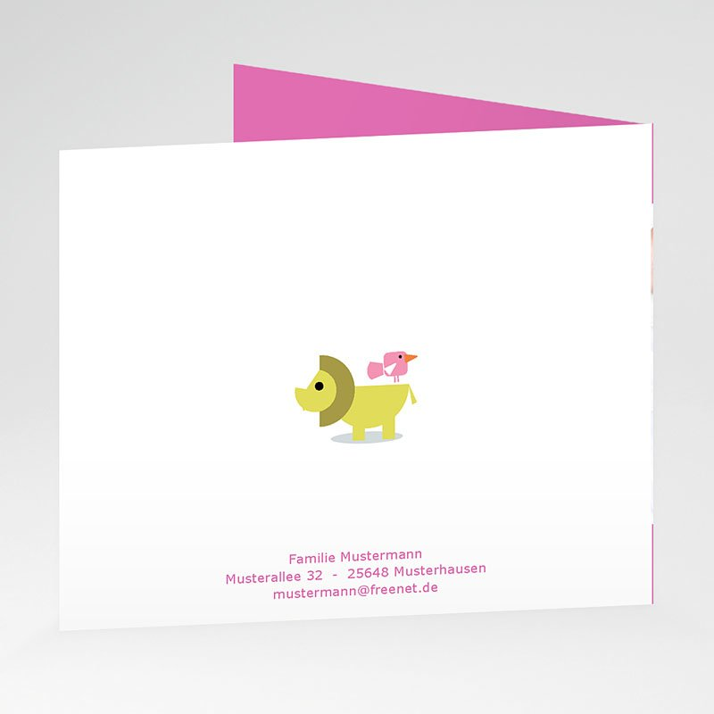 Geburtskarten für Mädchen Fisch und Vogel gratuit