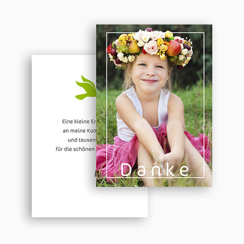 Dankeskarten Kommunion Mädchen - Taube in weiss 21054 thumb