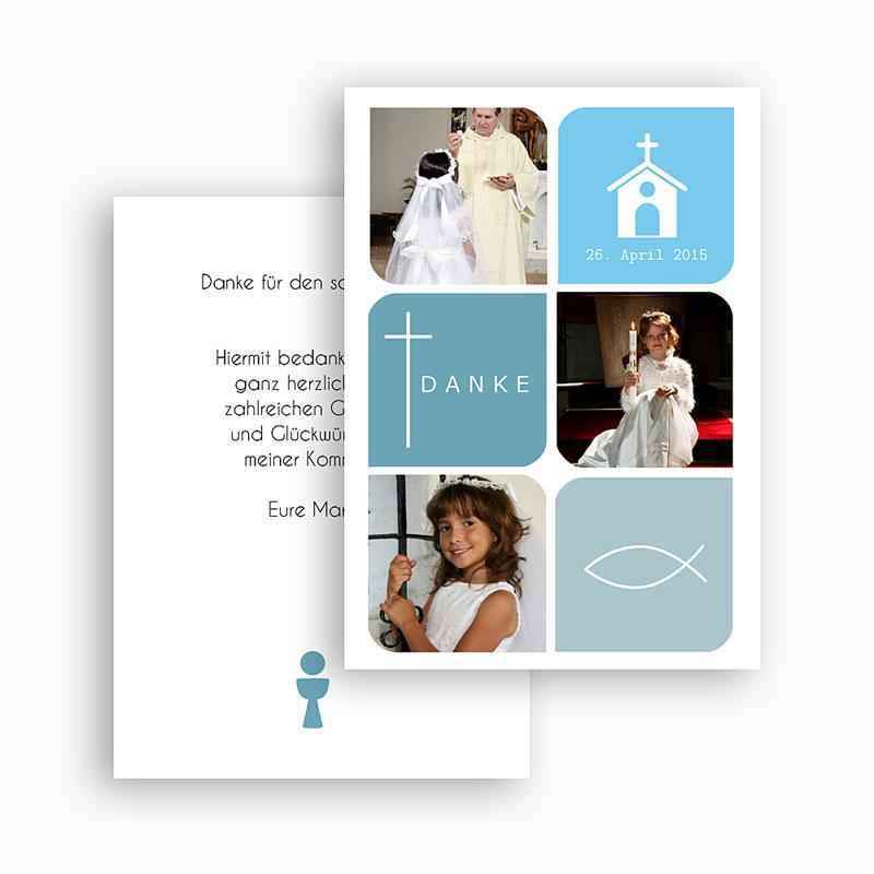 Dankeskarten Kommunion Mädchen Erdfarben gratuit