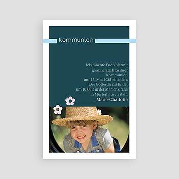 Einladungskarten Kommunion Mädchen Fotoreihe