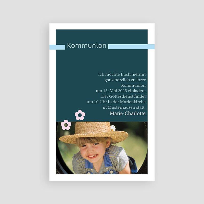 Einladungskarten Kommunion fur Mädchen Fotoreihe