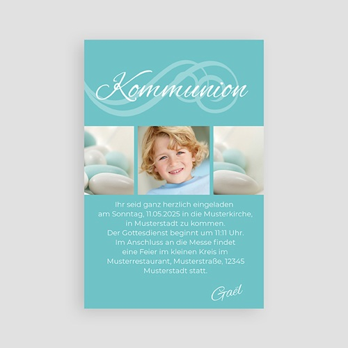 Einladungskarten Kommunion Jungen Elias