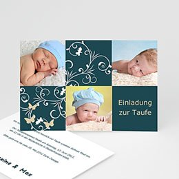 Einladungskarten Taufe Mädchen Korinna