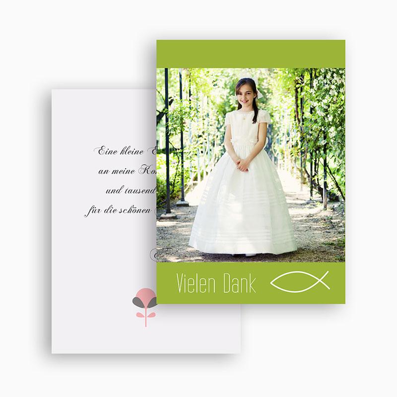Dankeskarten Kommunion Mädchen - Frieden 21194 thumb
