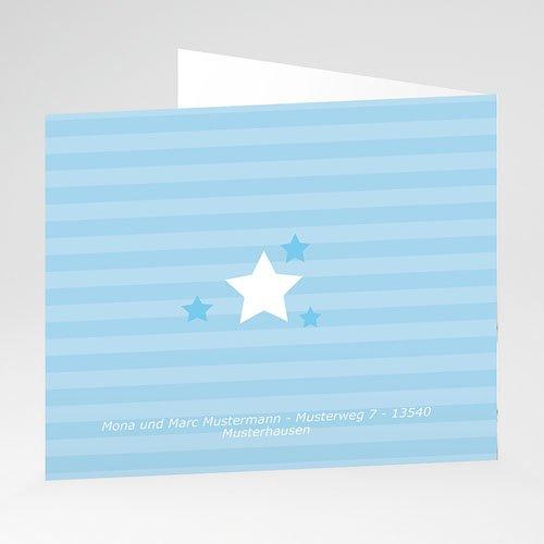 Geburtskarten für Jungen - Kleiner blauer Stern 21209 thumb