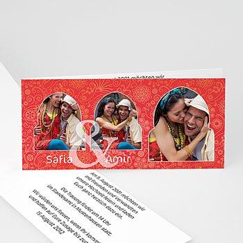 Orientalische Hochzeitskarten  - Hochzeitseinladung orientalisch - 1