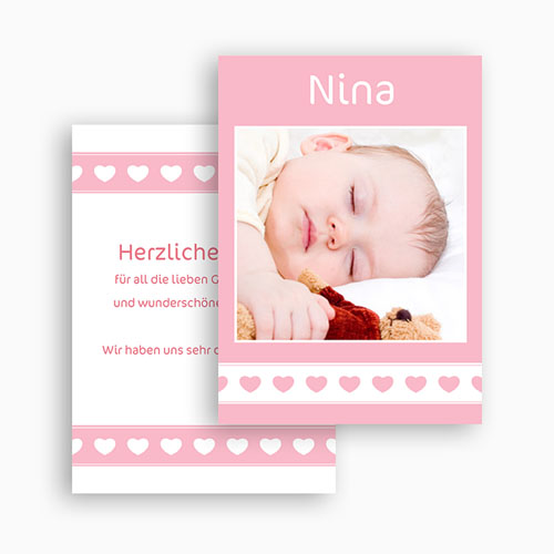 Dankeskarten Geburt Mädchen - Nina 21300 preview