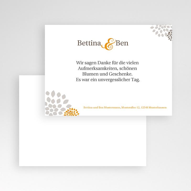 Danksagungskarten Hochzeit  Gold schick pas cher