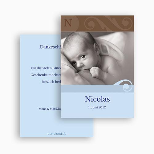 Dankeskarten Geburt Jungen - Mike 21351 test
