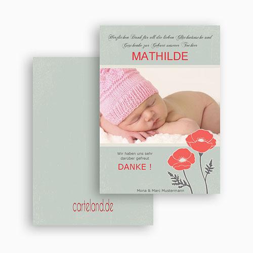Dankeskarten Geburt Mädchen - Mohnblume 21357 preview