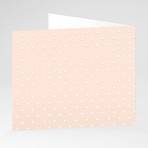 Geburtskarten für Mädchen Kleiner rosa Stern gratuit