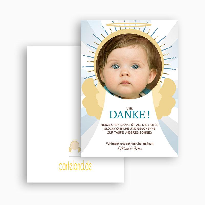Dankeskarten Taufe Jungen - Engel 21415 thumb