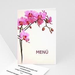 Menükarten Hochzeit  Orchidee