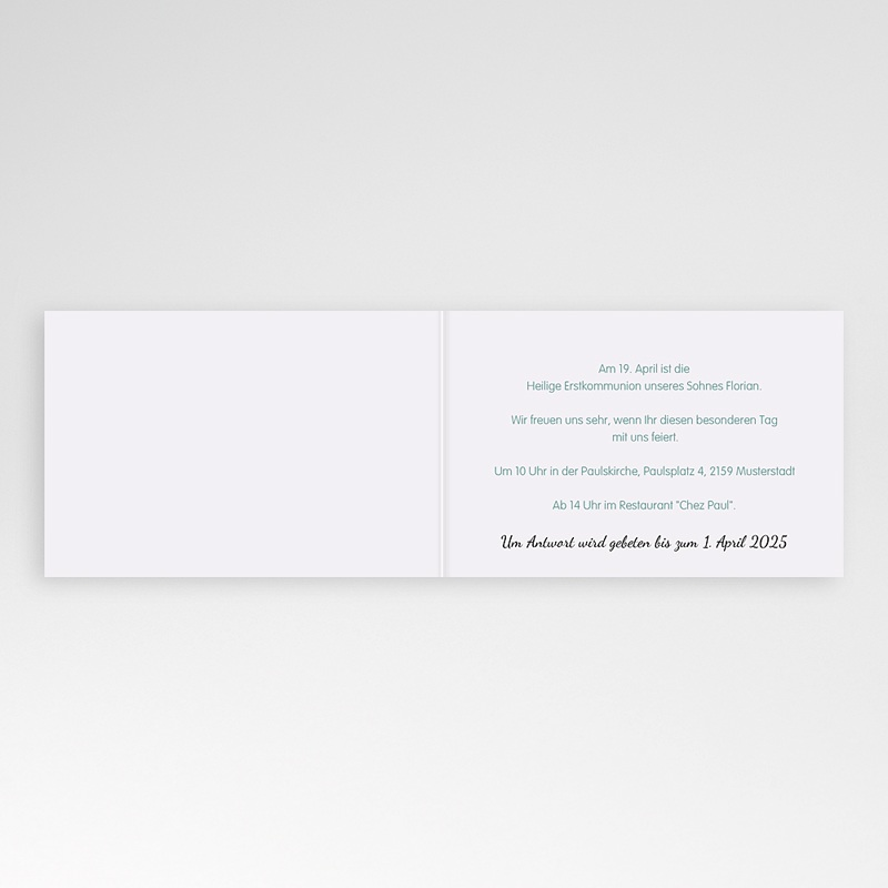 Einladungskarten Kommunion Jungen - Besonderer Tag 21471 thumb