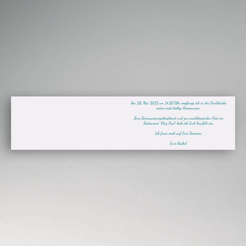 Einladungskarten Kommunion fur Mädchen Gepunktet pas cher