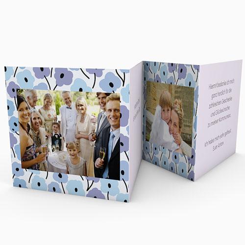 Dankeskarten Kommunion Mädchen - Blumen Leporello  21499 preview