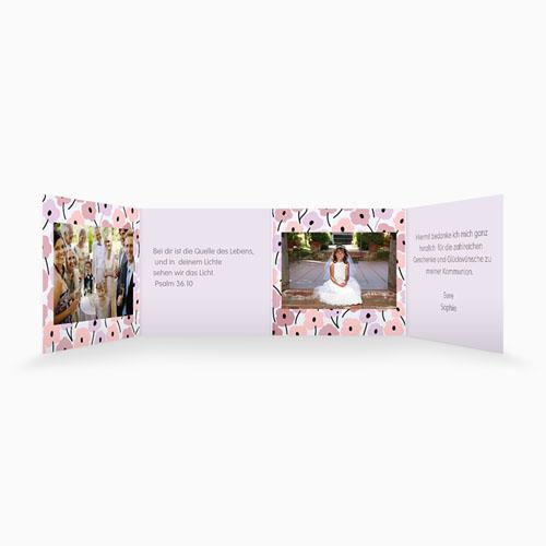 Dankeskarten Kommunion Mädchen - Leporello Romance 21516 test