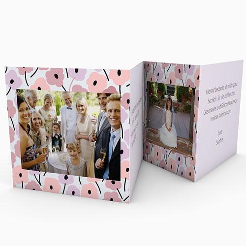 Dankeskarten Kommunion Mädchen - Leporello Romance 21517 test