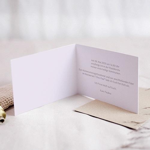 Einladungskarten Kommunion Mädchen - Rosablüten 21525 preview
