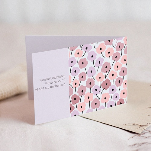 Einladungskarten Kommunion Mädchen - Rosablüten 21526 preview