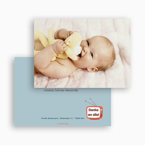 Dankeskarten Geburt Mädchen - Sonderausgabe 21539 preview