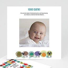 Dankeskarten Geburt Mädchen - Schafherde - 1
